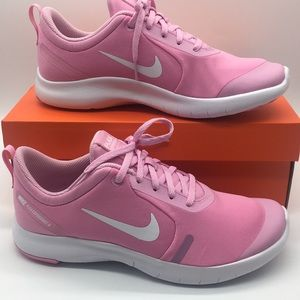 NIKE FLEX EXPERIENCE RN 8 (GS) pink rise/whit-pink